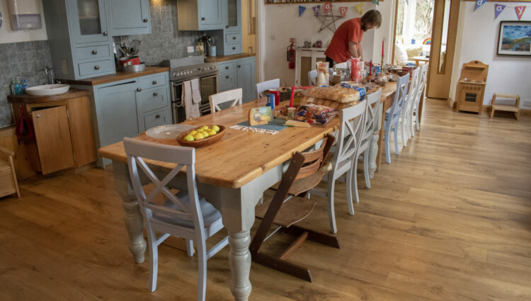 Dining table at Tiphereth