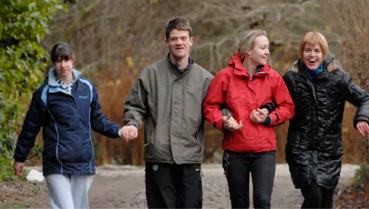 People walking together at a camphill community