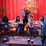 Co-worker folk club band at Newton Dee