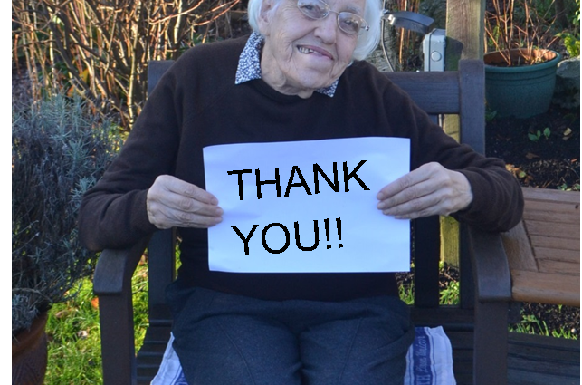 Resident says Thank You