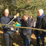 John Swinney unveils new bench at Corbenic Poetry Path