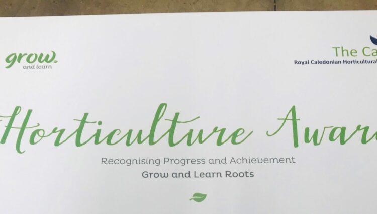 Horticultural Award headed paper