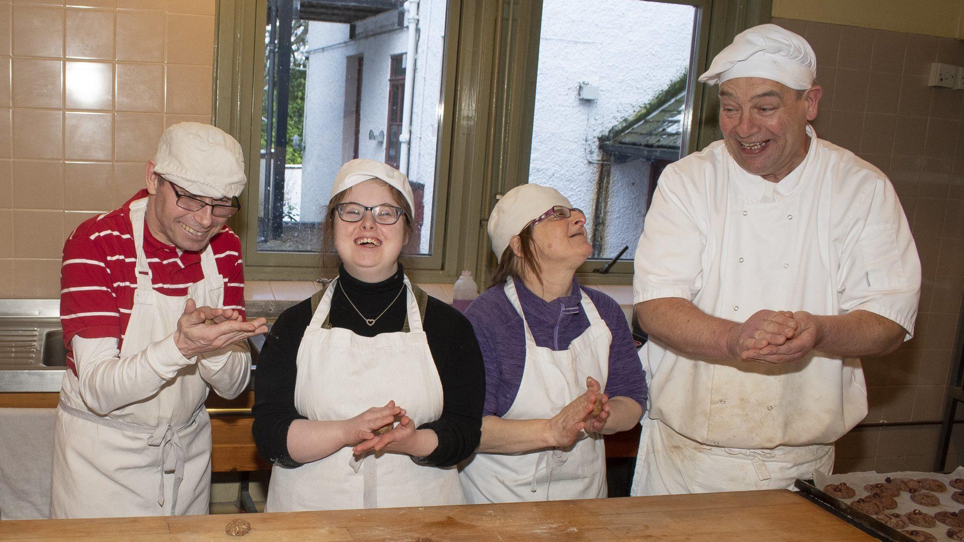 camphill residents baking
